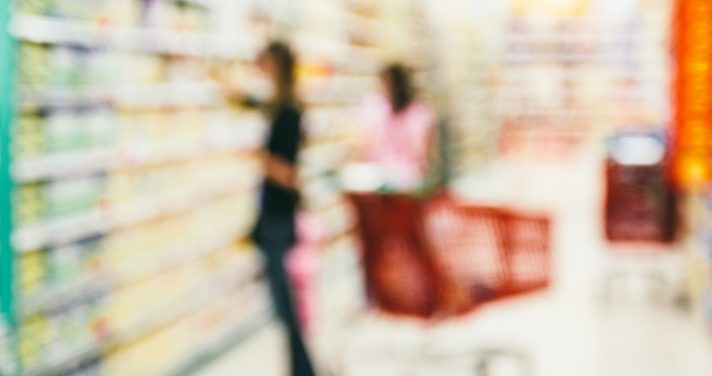 Blurry image of woman shopping