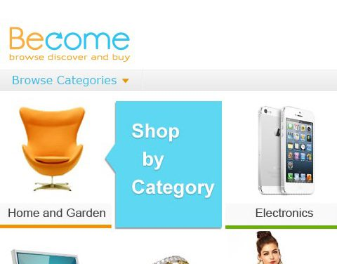 Become website shop by category