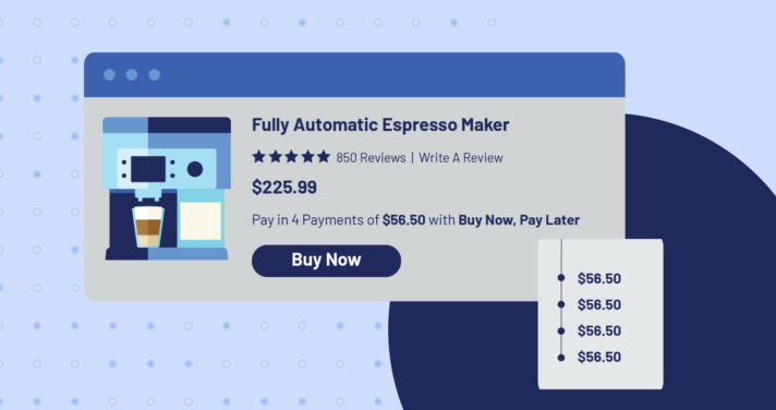 buy now pay later ecommerce checkout screen illustration